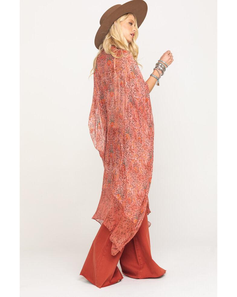 Aratta Women's Mauve Beaded Kimono, Mauve, hi-res