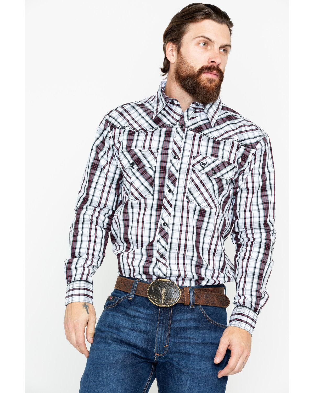 Cowboy Hardware Boys Jacquard Plaid Short Sleeve Western Shirt