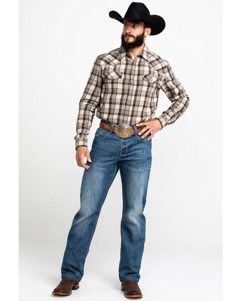 Cody James Men's Sand Storm Plaid Long Sleeve Western Flannel Shirt , Grey, hi-res