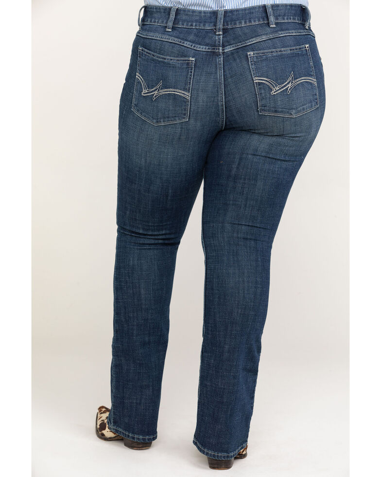 Wrangler Women's Dark Wash Boot Cut Jeans - Plus, Indigo, hi-res