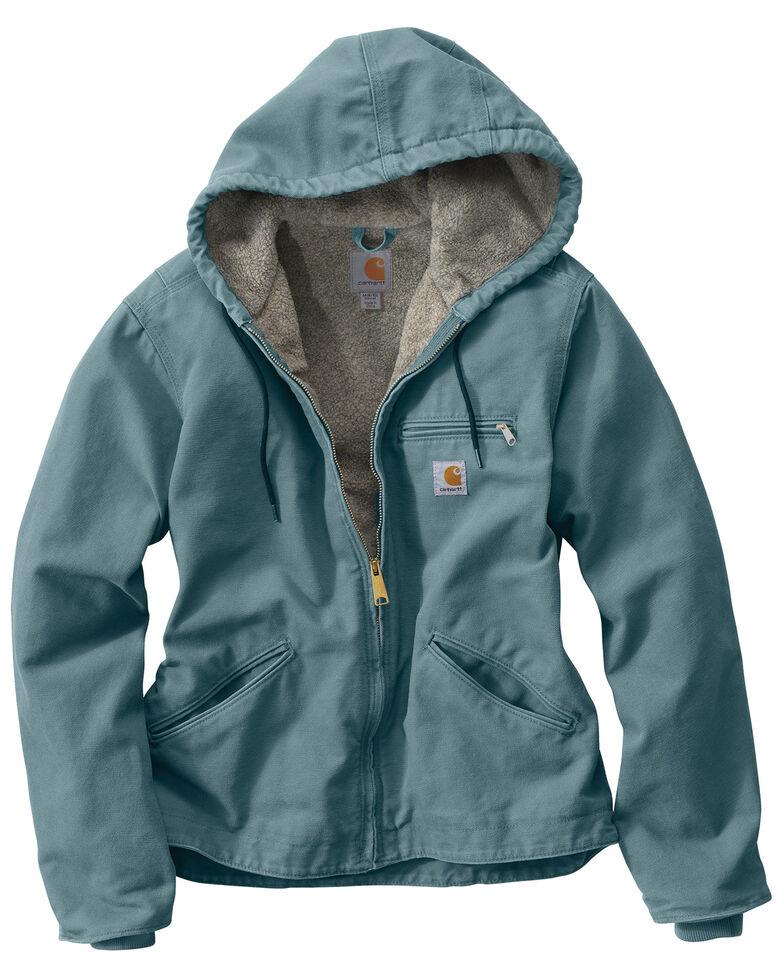 Carhartt Women's Sandstone Sierra Sherpa Lined Jacket, Steel Blue, hi-res
