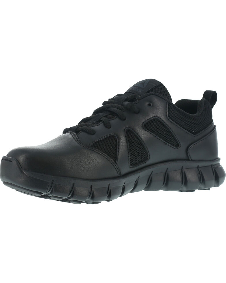 Reebok Men's Sublite Cushion Tactical Oxford Shoes - Soft Toe , Black, hi-res