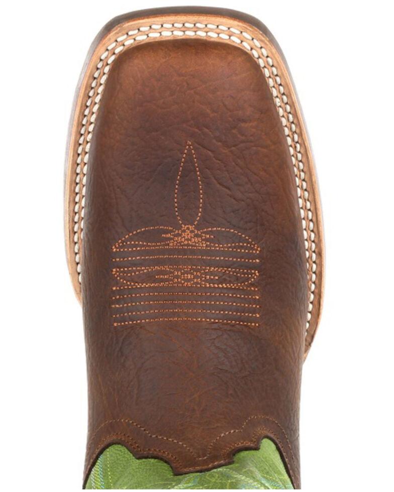 Durango Men's Rebel Pro Lime Western Boots - Square Toe, Green/brown, hi-res