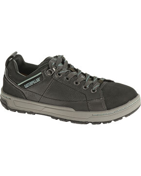 CAT Women's Brode Steel Toe Work Shoes, Dark Grey, hi-res
