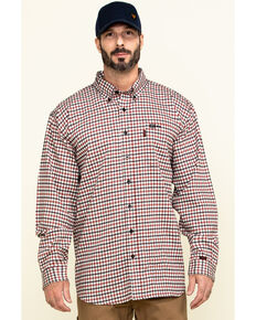 Cinch Men's FR Multi Plaid Long Sleeve Work Shirt , Multi, hi-res