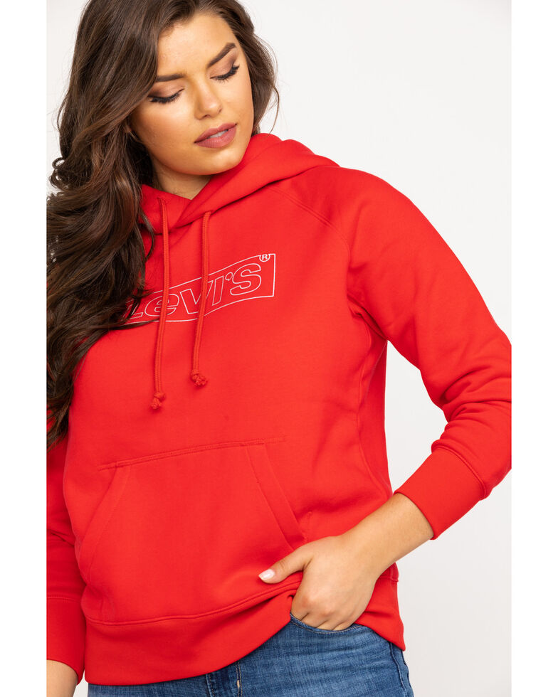 Levi's Women's Red Box Tab Hoodie, Red, hi-res