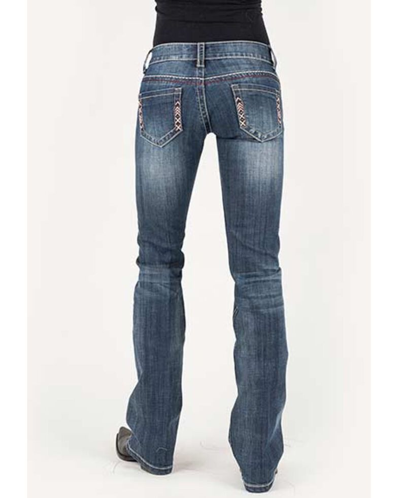 Stetson Women's 816 Medium Aztec Bootcut Jeans, , hi-res