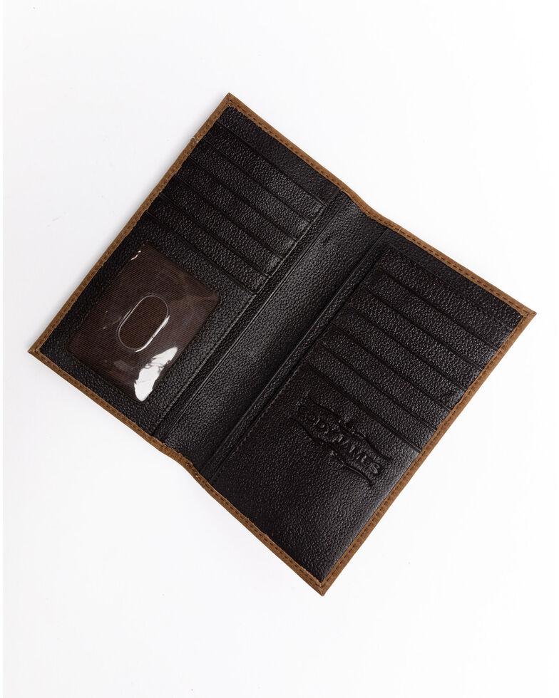 Cody James Men's Hair On Praying Cowboy Leather Checkbook Wallet, Brown, hi-res