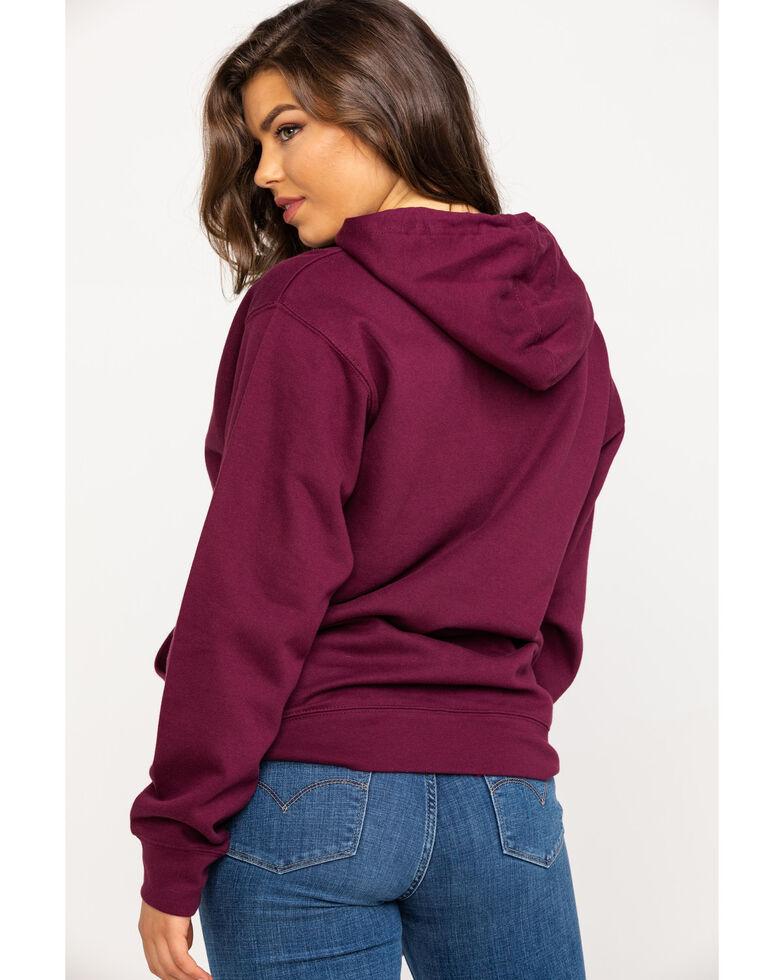 Wrangler Women's Burgundy Rope Logo Sweatshirt , Burgundy, hi-res