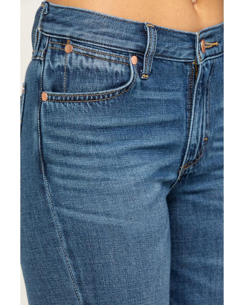 Wrangler Women's Heritage Midtown Exaggerated Boot Jeans, Medium Blue, hi-res
