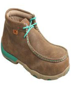 Twisted X Women's Alloy Toe Chukka Driving Mocs, Brown, hi-res