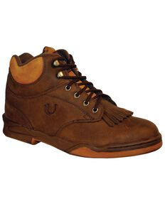 Roper Footwear Women's Horseshoe Kiltie Boots, Brown, hi-res