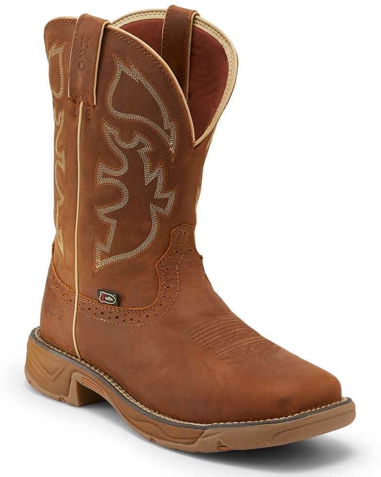 Justin Men S Stampede Rush Waterproof Western Work Boots