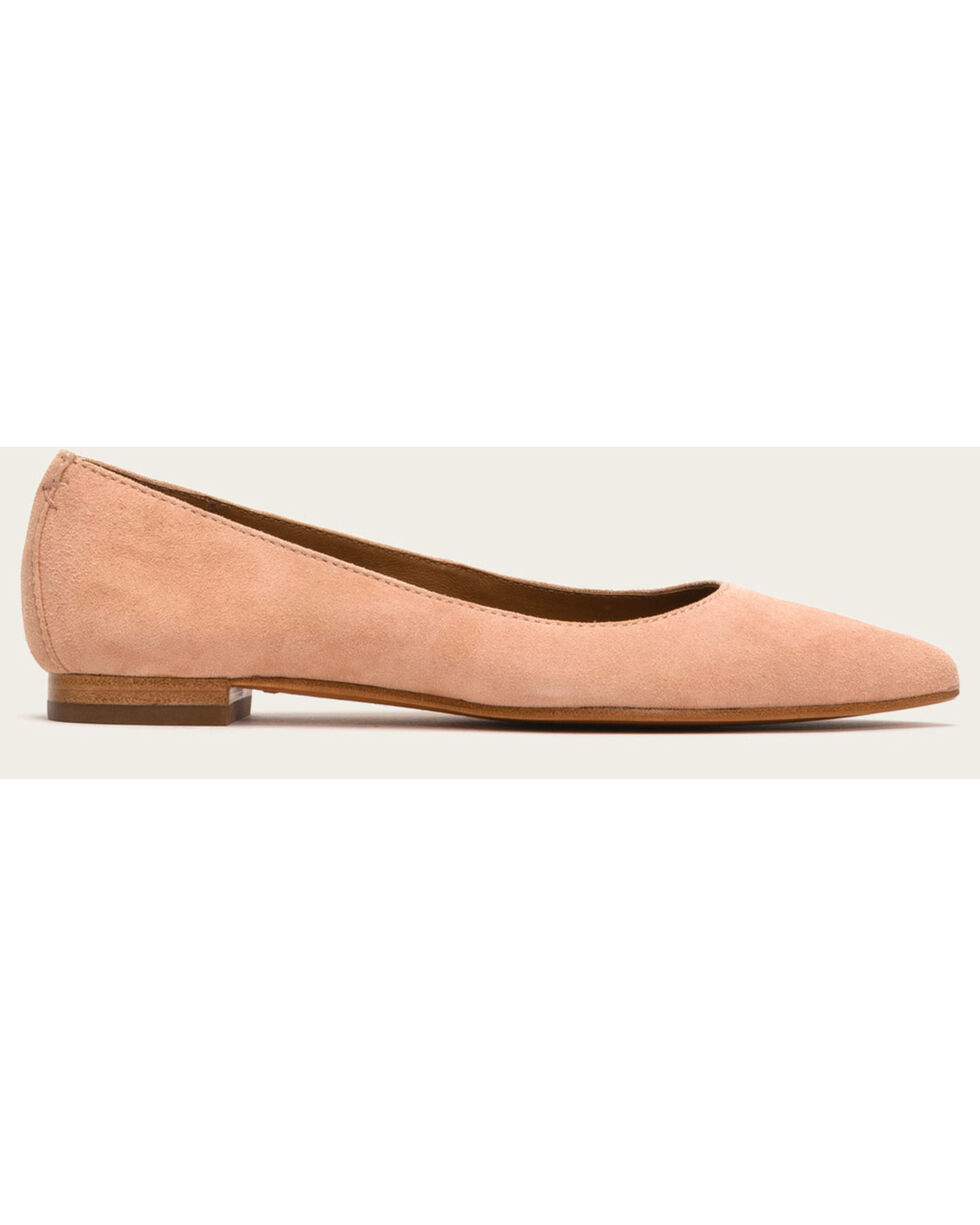 Frye Women's Blush Suede Sienna Ballet Shoes , Pink, hi-res