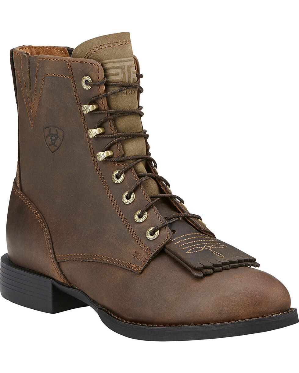 Ariat Women's Heritage Lacer II Western Boots, Brown, hi-res
