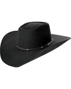 Master Hatters Men's Black Mabank 3X Wool Felt Cowboy Hat, Black, hi-res