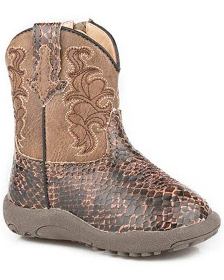 Roper Infant Girls' Viper Poppet Boots - Round Toe, Brown, hi-res
