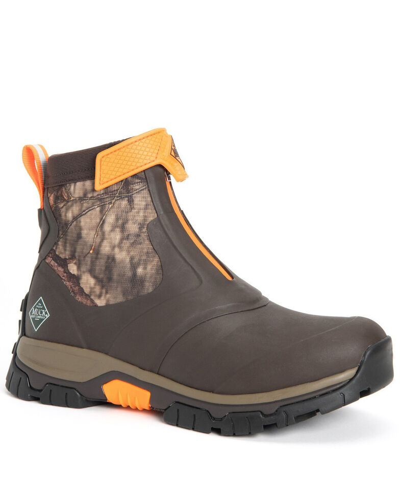 Muck Boots Men's Apex Mid Rubber Boots - Round Toe, Brown, hi-res