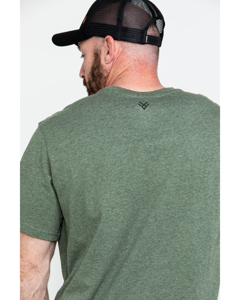 9d83bc9e75 Zoomed Image Hawx® Men's Green Pocket Crew Short Sleeve Work T-Shirt , Heather  Green,