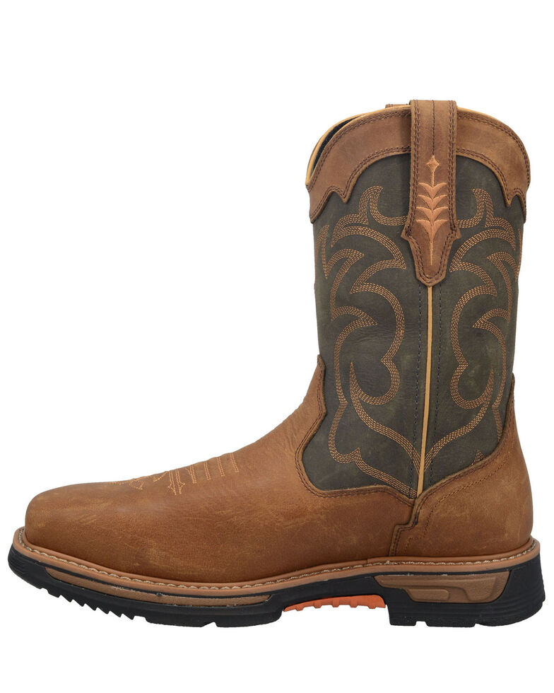 Dan Post Men's Storm Tide Waterproof Western Work Boots - Broad Square Toe, Tan, hi-res