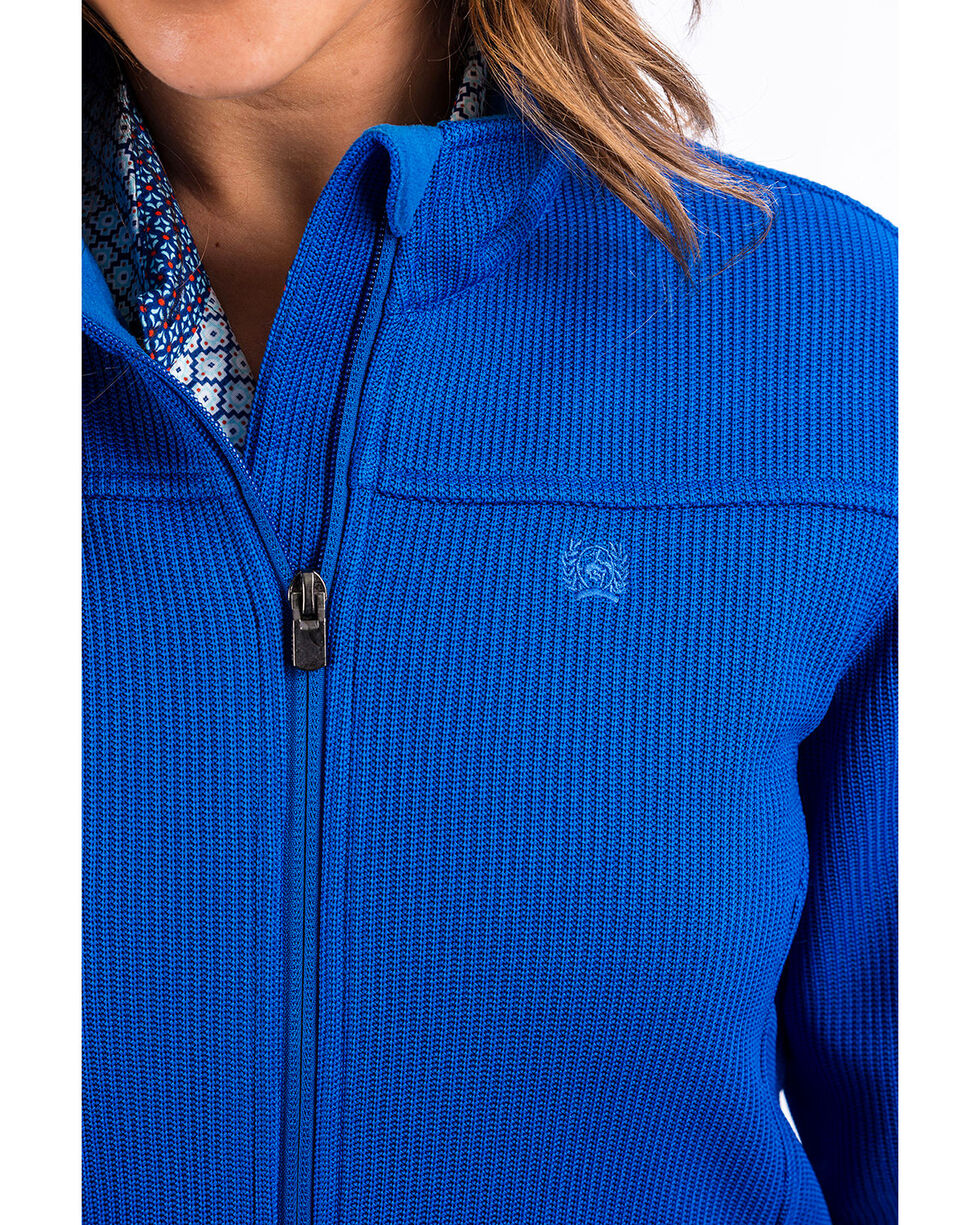Cinch Women's Sweater Knit Jacket, Royal Blue, hi-res