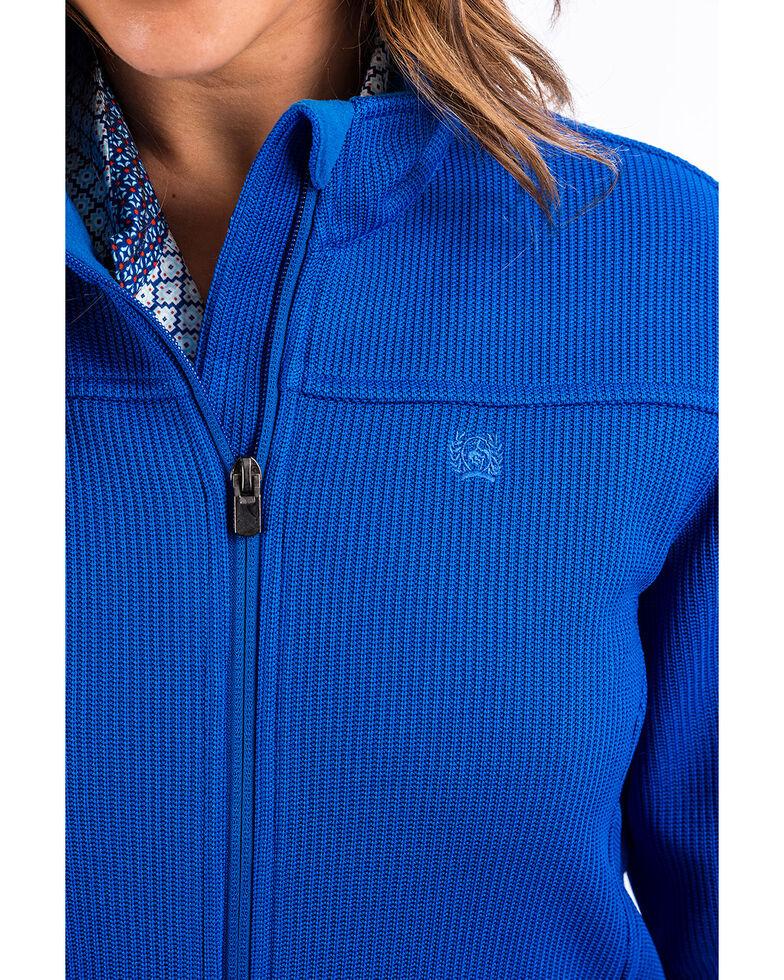 Cinch Women's Sweater Knit Jacket, Royal Blue, hi-res