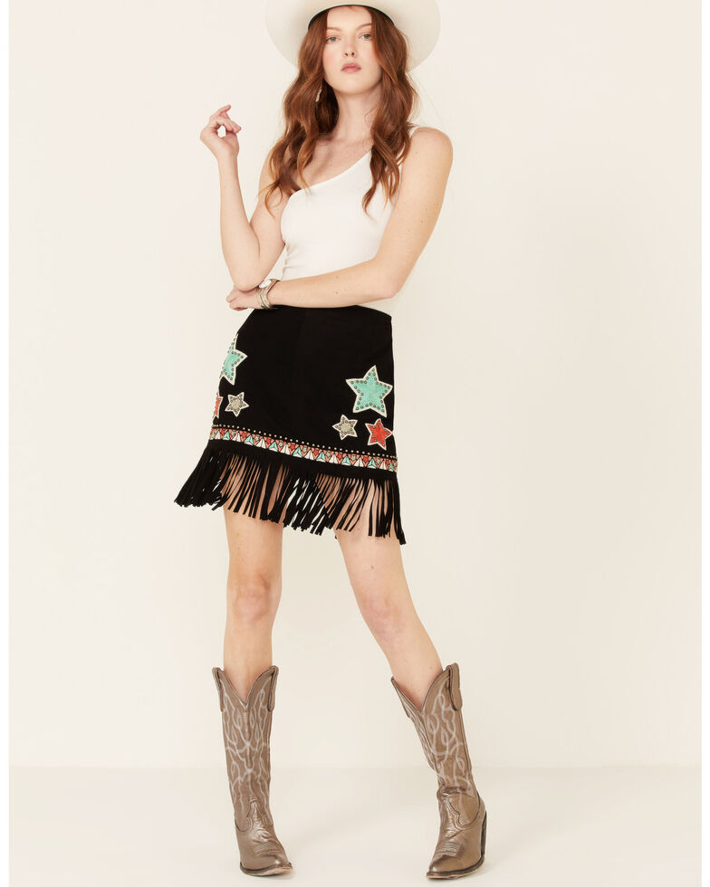 Double D Ranchwear Women's Song Of The West Skirt, Black, hi-res