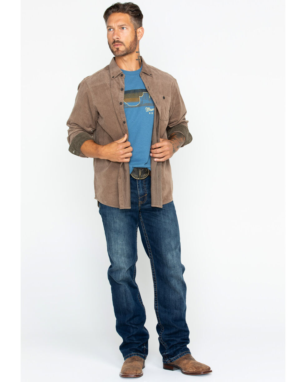 North River Men's Solid Corduroy Shirt , Brown, hi-res