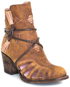 Miss Macie Women's Taupe Singing Willow Booties - Round Toe , Taupe, hi-res