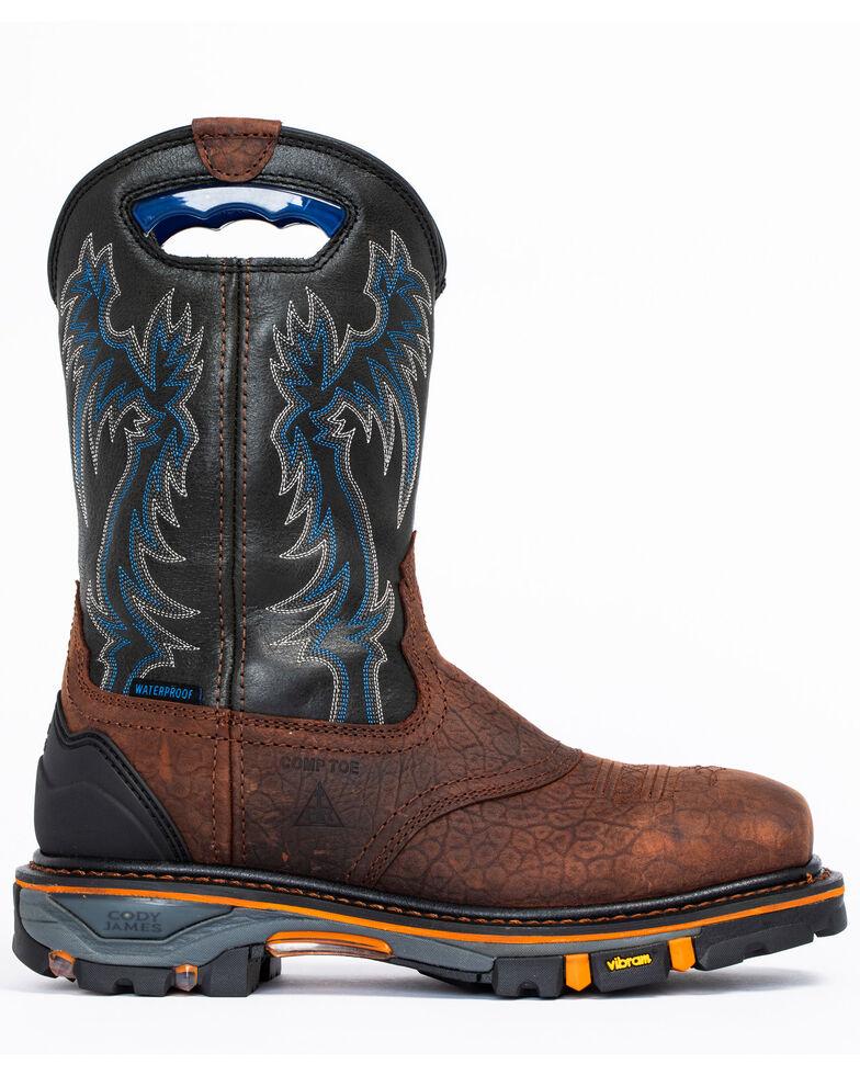 Cody James Men's Decimator Waterproof Western Work Boots - Nano Composite Toe, Brown, hi-res