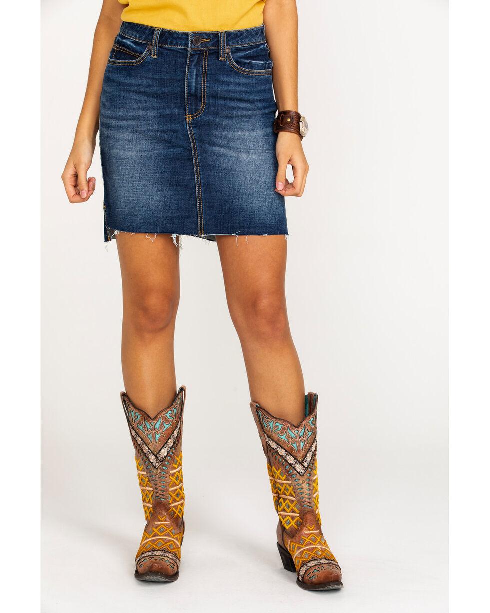 Wrangler Retro Women's Cowtown Mid Rise Denim Skirt , Indigo, hi-res