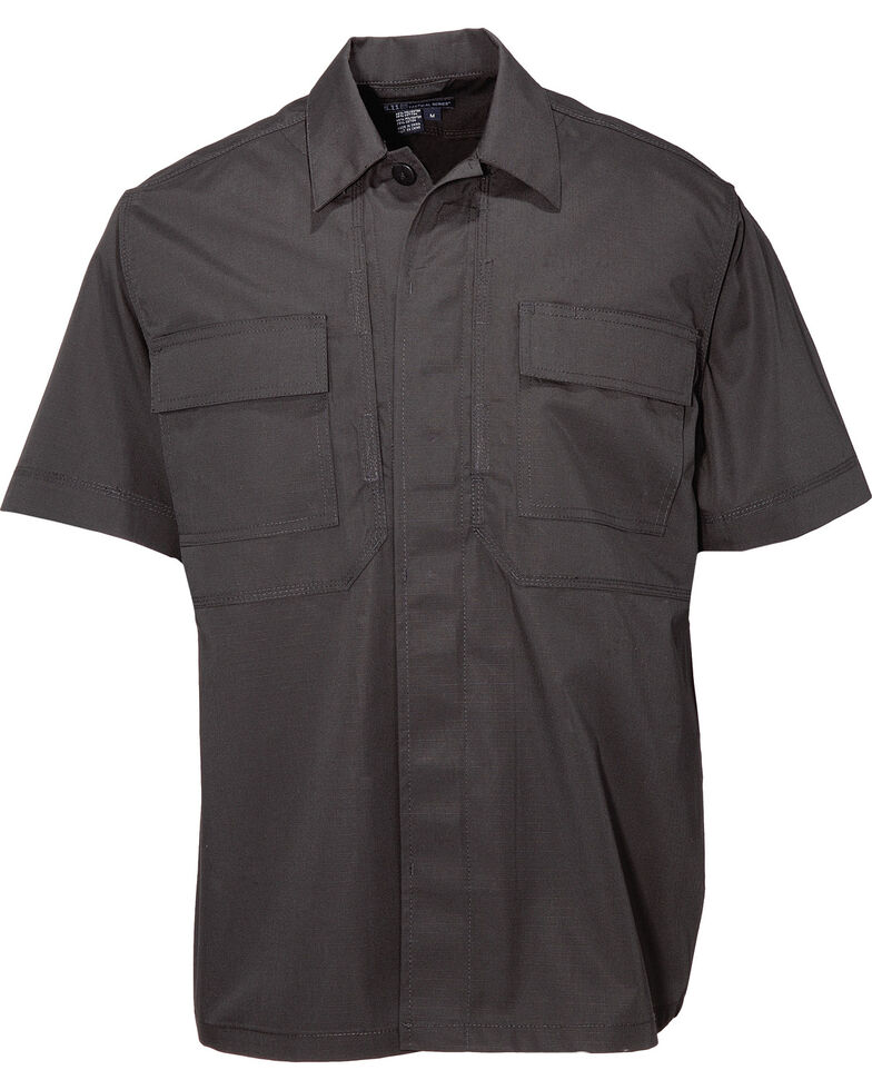 5.11 Tactical TDU Taclite Ripstop Shirt (3XL-4XL), Black, hi-res