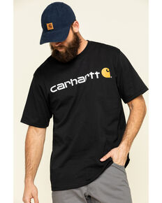 Carhartt Men's Short-Sleeve Logo T-Shirt, Black, hi-res