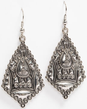 Idyllwind Women's Wildin' Geo Aztec Earrings, Silver, hi-res