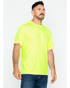 Hawx Men's Short Sleeve Color-Enhanced Cooling Work Tee , Yellow, hi-res