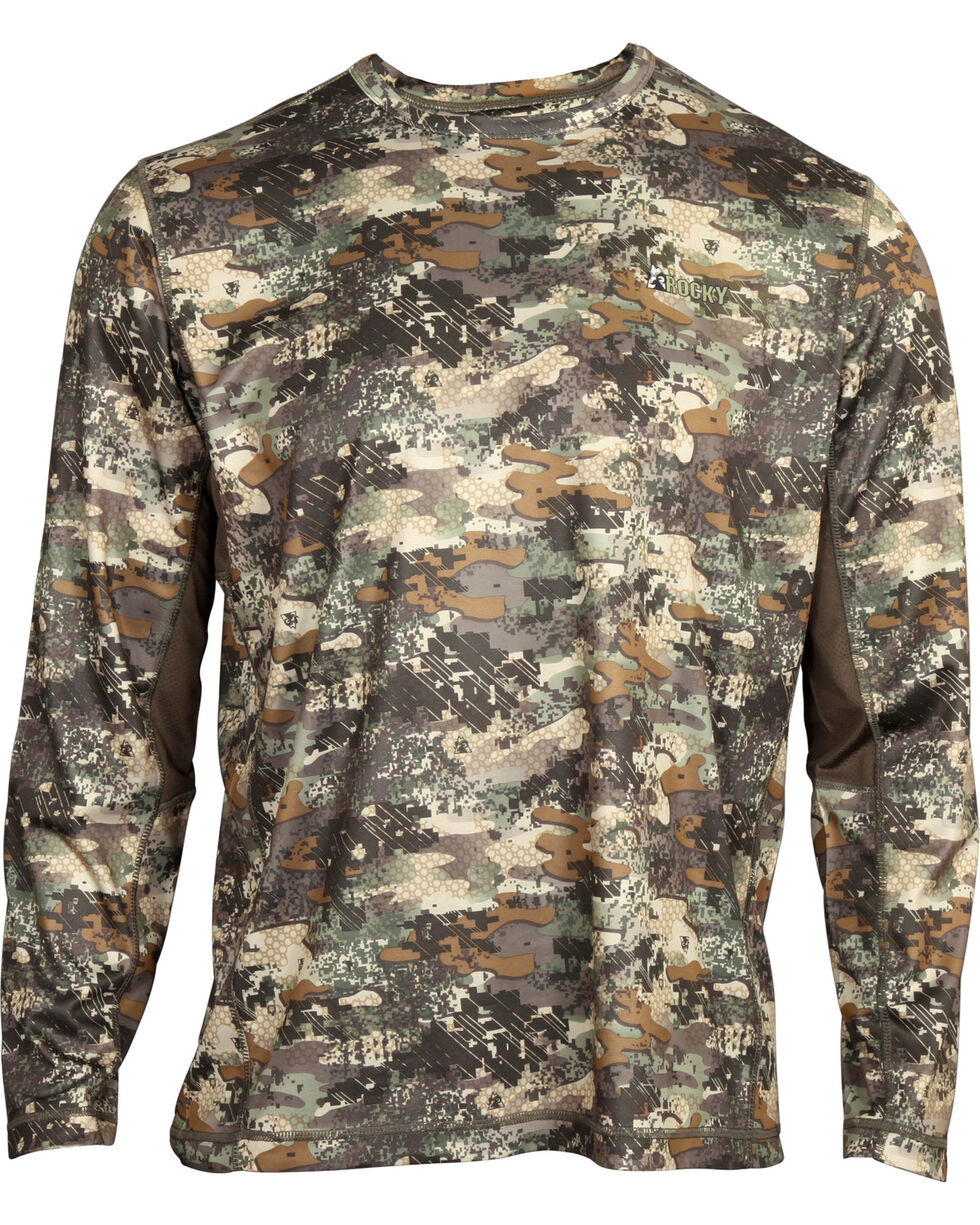 Rocky Men's Stratum Long Sleeve T-Shirt , Camouflage, hi-res