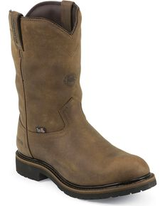 Justin Men's Waterproof & Insulated Work Boots, Brown, hi-res