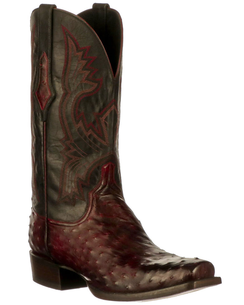 Lucchese Men's Cliff Western Boots - Wide Square Toe, Black Cherry, hi-res