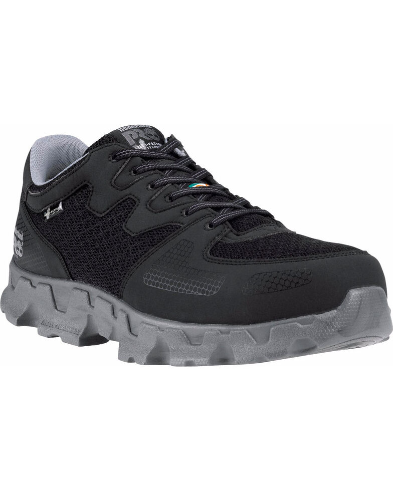 Timberland PRO Men's Powertrain ESD Work Shoes - Alloy Toe, Black, hi-res
