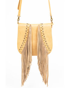 Shyanne Women's Fab Fringe Saddle Bag , Beige/khaki, hi-res