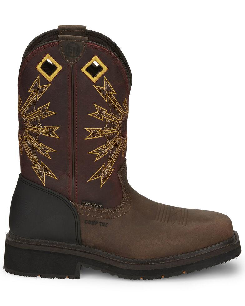 Justin Men's Flanker Western Work Boots - Composite Toe, Brown, hi-res