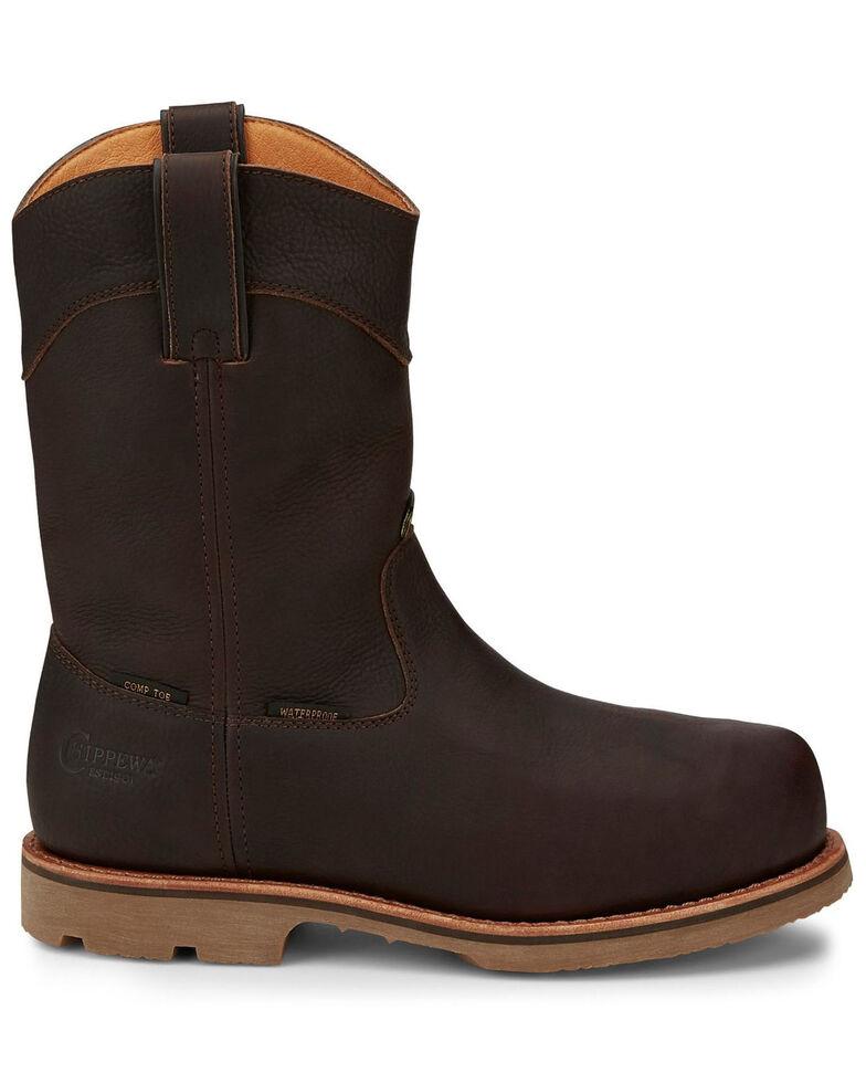 Chippewa Men's Serious Plus Waterproof Western Work Boots - Composite Toe, Brown, hi-res
