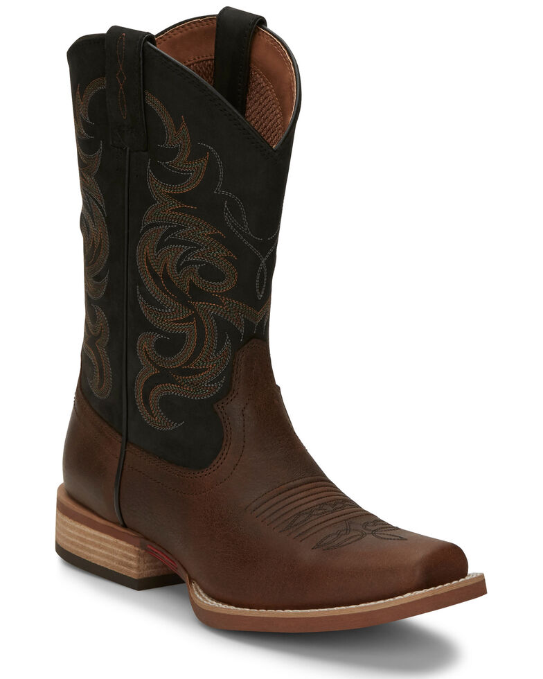 Justin Men's Cowman Brown Western Boots - Square Toe, Brown, hi-res