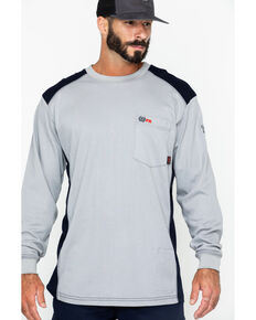 5e7cfcf112f4 Cinch WRX Men s Grey Long Sleeve FR Raglan Shirt