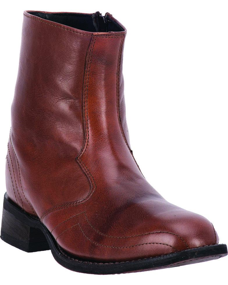 Laredo Men's Hoaxie Side-Zip Short Boots - Square Toe, Brown, hi-res