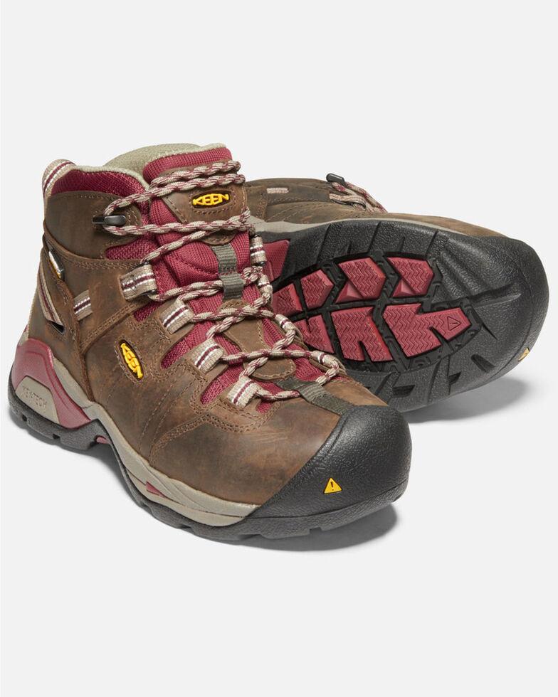 Keen Women's Detroit XT Waterproof Work Boots - Steel Toe, Brown, hi-res