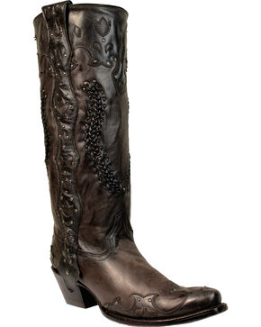 Corral Women's Studded Western Boots, Grey, hi-res