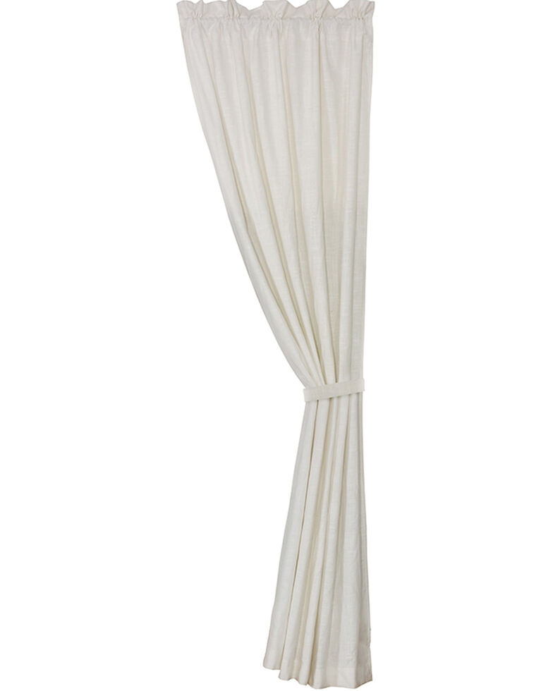 HiEnd Accents Newport White Linen Curtain, White, hi-res
