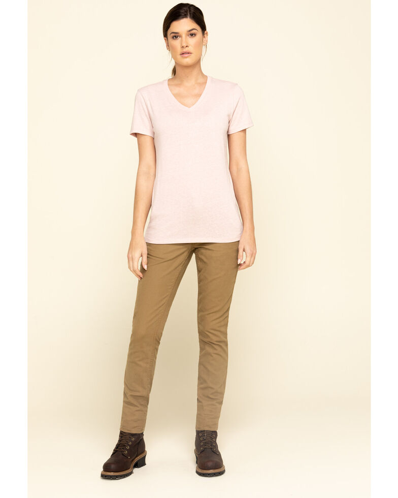 Carhartt Women's Blush Short Sleeve Work T-Shirt, Blush, hi-res