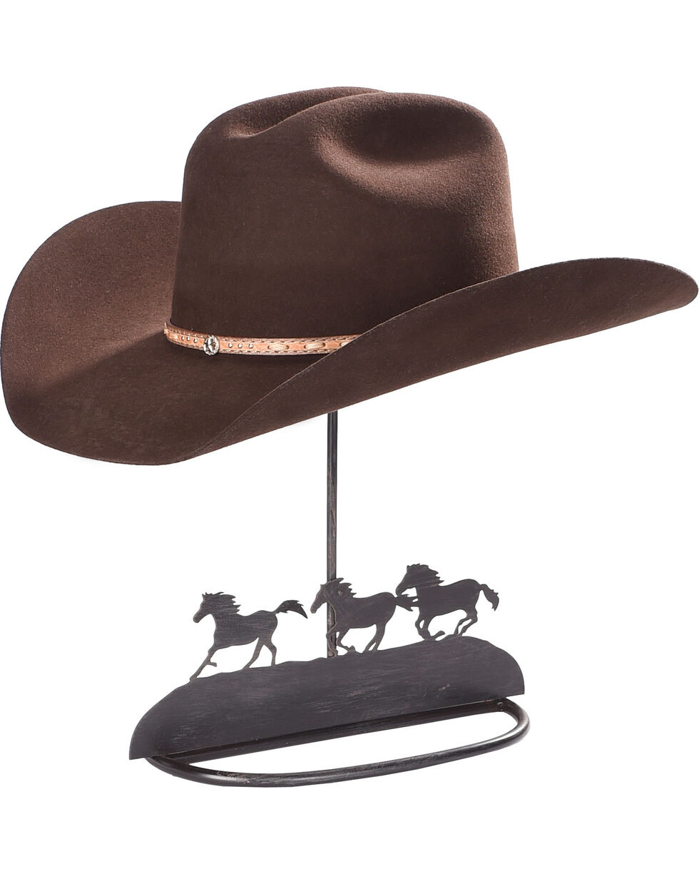 BB Ranch Running Horse Tabletop Hat Holder, Brown, hi-res